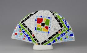 Abanico porcelana 1244/32G