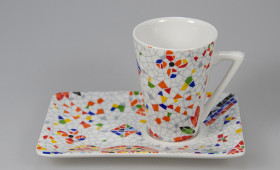 Taza café cónica con plato 2365/32GR