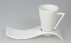Taza café cónica c/ plato 2543/21