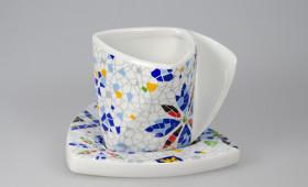 Taza café papel con plato 2586/32G