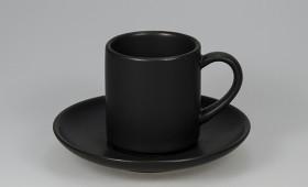 Taza café c/ plato negro mate 2808/21