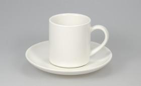 Taza café c/ plato blanco mate 2809/21