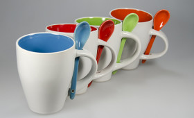 Mug con cuchara + int. color 2846/21
