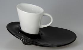 Taza Rixi c/ plato negro 2905/21
