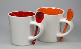 Mug con cuchara + int. color 2929/21