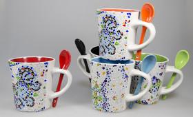Mug con cuchara + int. color 2929/32G