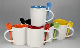 Mug recto c/cuchara + int. color 2934/21