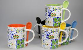 Mug recto c/cuchara + int. color 2934/32G