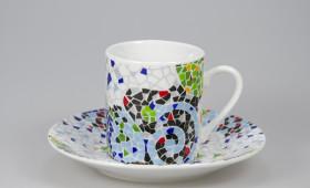 Taza café 5cl. con plato 9/32G